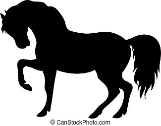 Vector Silhouette of Beautiful Horse - Vector silhouette of...