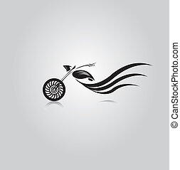 vector Silhouette of classic motorcycle. vector motorcycle icon