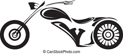 vector Silhouette of classic motorcycle. moto icon - vector ...