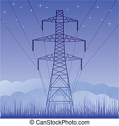 Vector silhouette of high voltage
