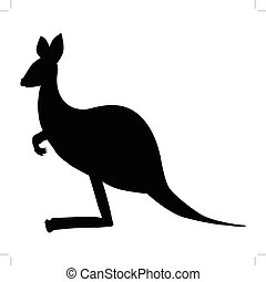 kangaroo side view