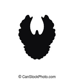 vector silhouette of simple black dove