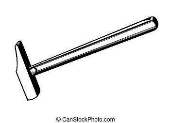 vector silhouette of the gavel on white background