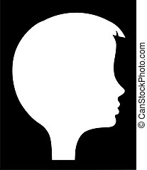 vector silhouette of the head of the girl