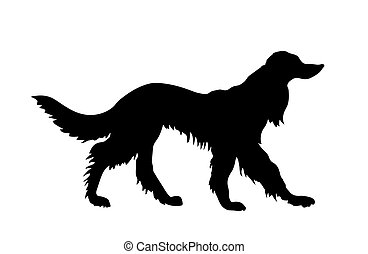 vector silhouette pointer on white background