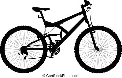 7ef4b59c79b Vector silhouette two suspension mountain bike - vector illustration  isolated on white background