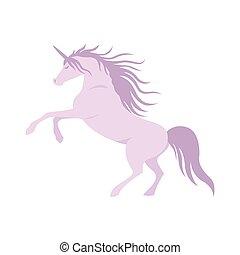 Vector silhouette unicorn image