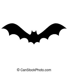 Vector silhouettes of bat