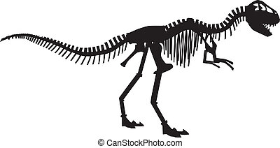 vector silhouettes of the skeleton