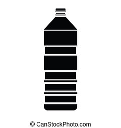 vector, silueta, botella
