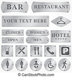 Vector silver and signboards