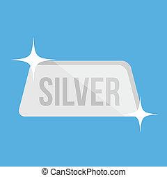 Vector Silver Bar Icon