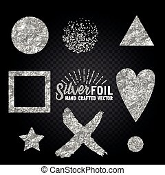 Vector Silver Foil Collection