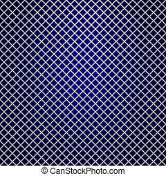 Vector silver grille on blue background