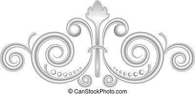Vector silver vignette