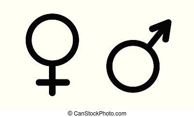 vector., simbolo, genere
