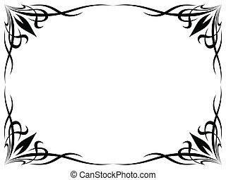 simple black tattoo ornamental decorative frame