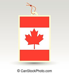 vector simple canadian price tag - symbol of made in canada