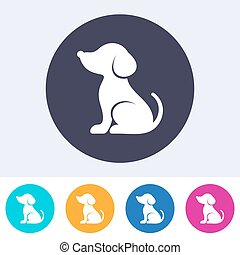 Vector simple dog icon