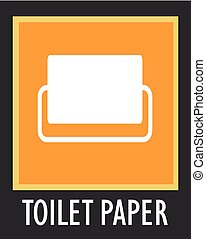 Vector simple icon interior. Toilet paper