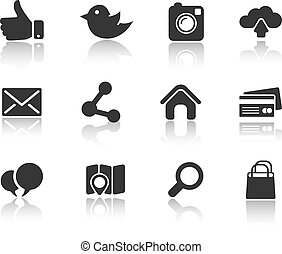 Icons for web and mobile - Vector simple Icons for web and...