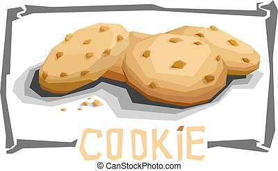 Vector simple illustration of chocolate cookies. - Vector...