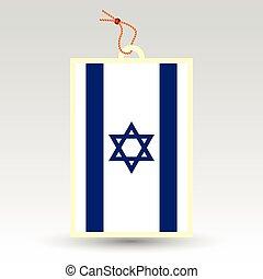vector simple israeli price tag - symbol of made in israel