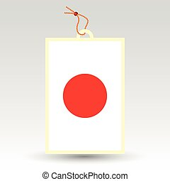vector simple japanese price tag - symbol of made in japan