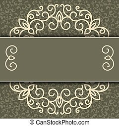 Vector simple ornamental decorative frame