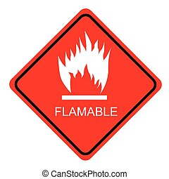 Simple Sign red sign Flammable