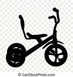 Simple Silhouette Tricycle at transparent effect background...