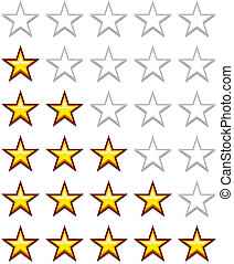vector simple yellow rating stars