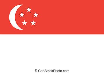 Singapore flag - Vector Singapore flag