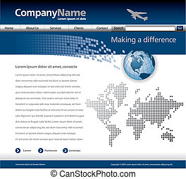 vector, sitio web, plantilla