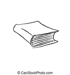 vector sketch hand drawing old book