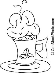 vector sketch illustration - cup of coffee