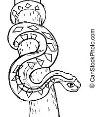 Vector, sketch image of anaconda