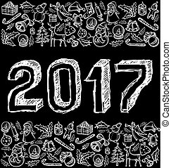 Vector sketch numbers 2017