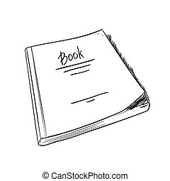 Vector sketch of book