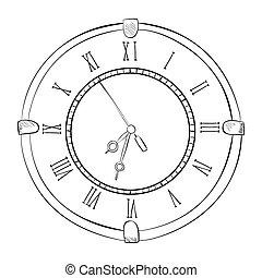 Vector sketch of clock