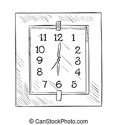 Vector sketch of clock