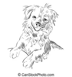 Vector sketch of dog.