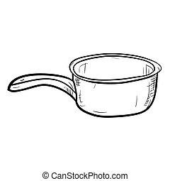 Vector sketch of doodle bucket