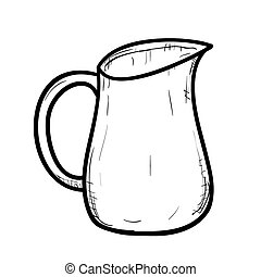 Vector sketch of doodle jug