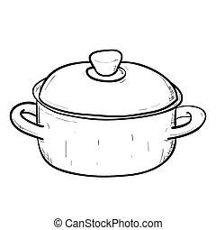 Vector sketch of doodle pan