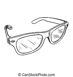 Vector sketch of glasses