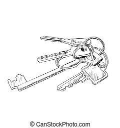 Vector sketch of keys