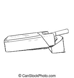 Vector sketch of pack cigarettes