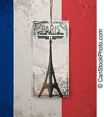 Vector sketch of the Paris Eiffel Tower