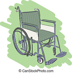 Wheelchair - Vector sketch of Wheelchair